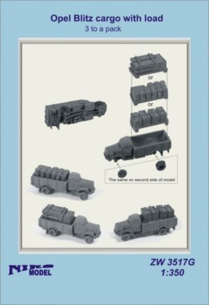 Niko Model 1:350 Opel Blitz Cargo with Load (3 to a pack)