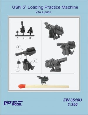 "Niko Model 1:350 USN 5"" Loading Practice Machine (2 to a pack)"