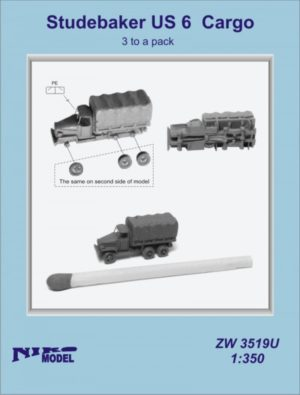 Niko Model 1:350 Studebaker US 6 Cargo with Photo Etch (3 to a pack)