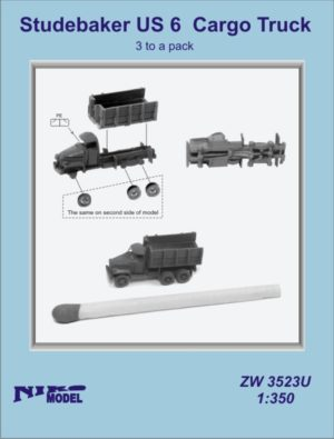 Niko Model 1:350 Studebaker US 6 Cargo Truck with Photo Etch (3 to a pack)