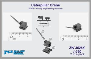 Niko Model 1:350 Caterpillar Crane WWII Military Engineering Machine (2 to a pack)