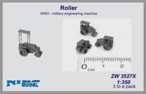 Niko Model 1:350 Roller WWII Military Engineering Machine (3 to a pack)