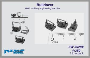 Niko Model 1:350 Bulldozer WWII Military Engineering Machine (3 to a pack)