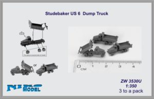 Niko Model 1:350 Studebaker US 6 Dump Truck (3 to a pack)