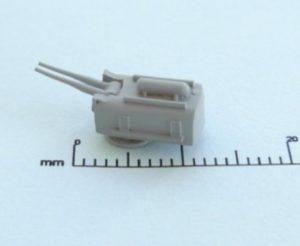 """Niko Model 1:700 2 x 6""""/53 (2 x 152mm / 53) Gun (5 to a pack)"""