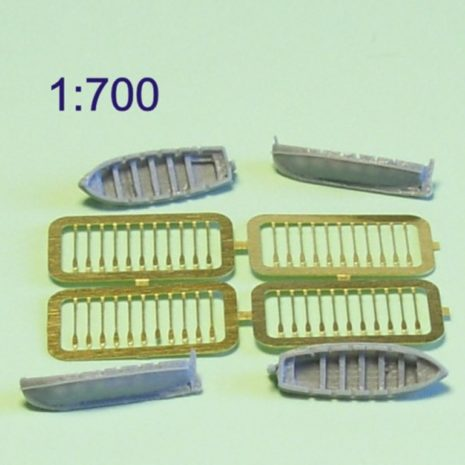 Niko Model 1:700 Japanese Boat 7M with PE Paddles also Photo Etch (4 to a pack)