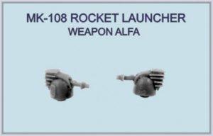 Niko Model 1:700 MK-108 Rocket Launcher Weapon Alfa (4 to a pack)