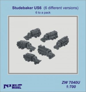 Niko Model 1:700 Studebaker US6 (6 different versions to a pack)