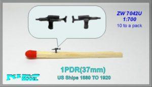 Niko Model 1/700 1 Pounder 37mm Gun For United States Ships
