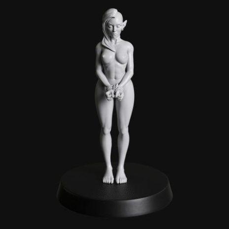 Manufaktura Miniatures Bound Nude Female Shadow Elf Slave