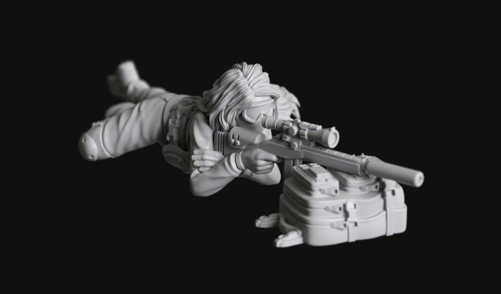 Manufaktura Miniatures Post Apocalyptic Wasteland Survivor Sniper Girl